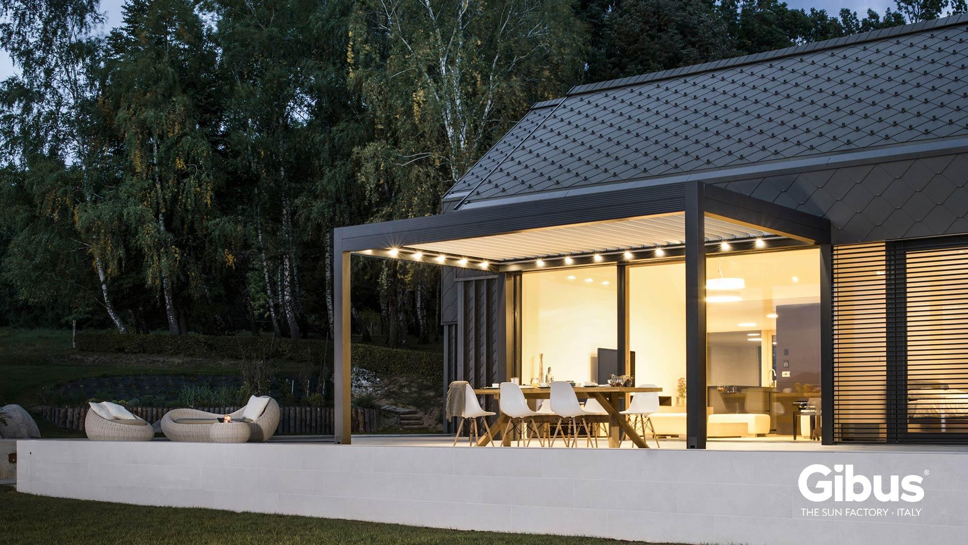 pergole in alluminio bioclimatiche copertura. Black Bedroom Furniture Sets. Home Design Ideas