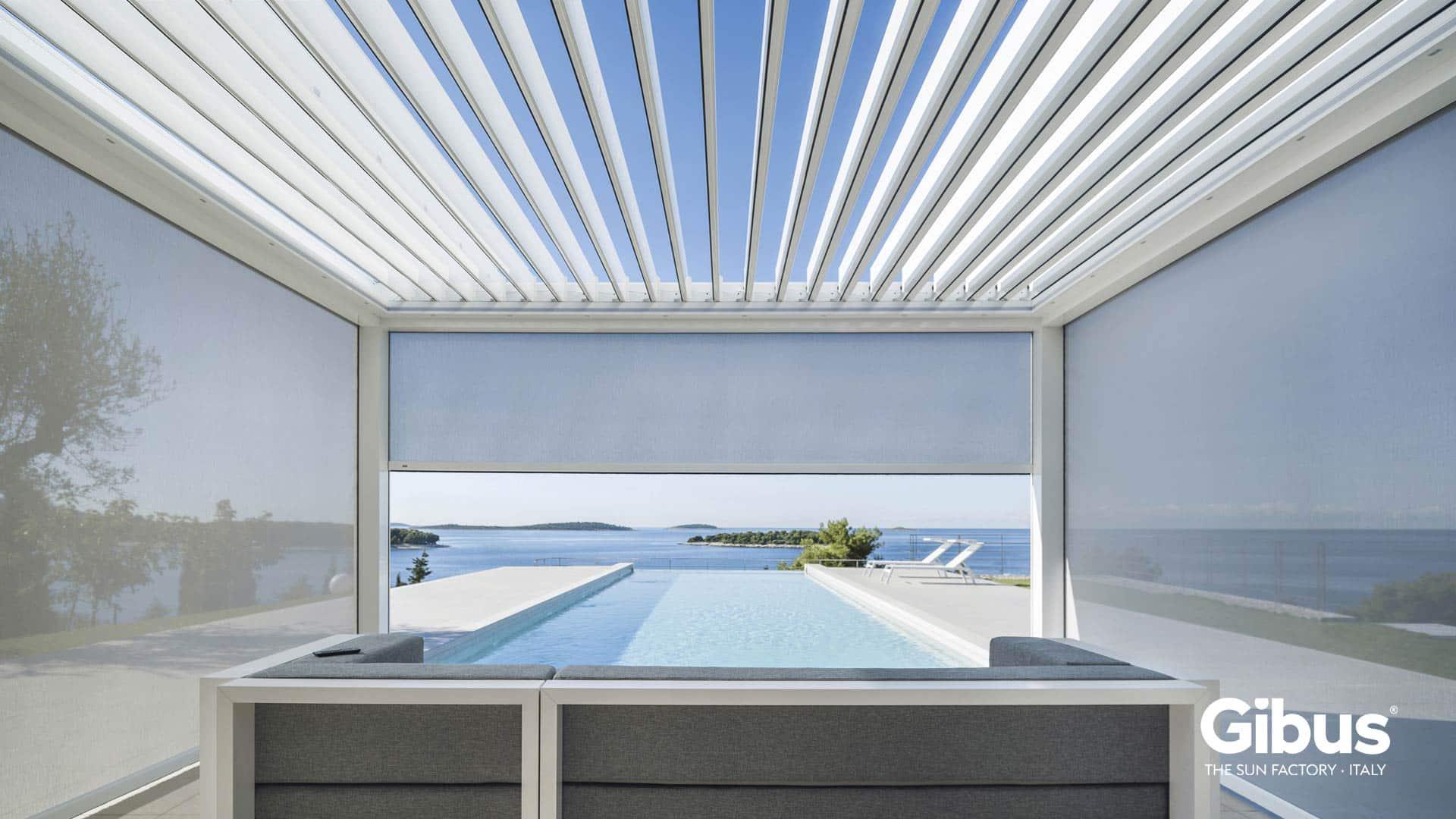 Pergole in alluminio bioclimatiche copertura retraibile padova