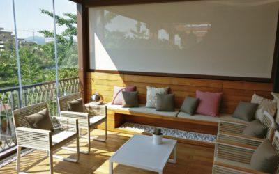 Arredamento outdoor su misura di due terrazze – Abano Terme