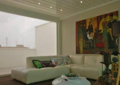 Montaggio Pergola Bioclimatica con tende a caduta - Residence Prato della Valle