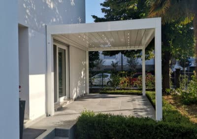 Pergola Bioclimatica Med Joy e Pensilina in Vetro - Padova