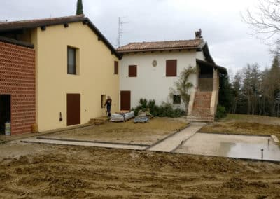 Giardino Villa del '600 - Progettazione Minipiscina